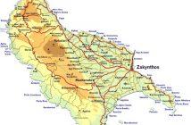 Zakynthos Adası Harita